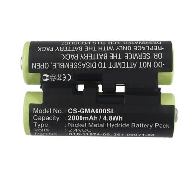 2.4V 2000mAh Replacement Battery for Garmin 361-00071-00 010-01550-00 Astro 430 handheld
