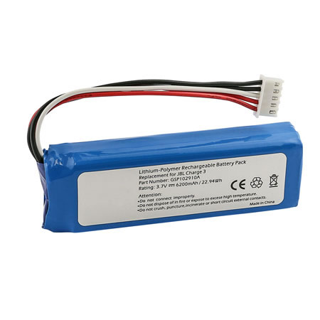 3.7V 6000mAh Replacement GSP1029102A Battery for JBL Charge 3 2016 Version
