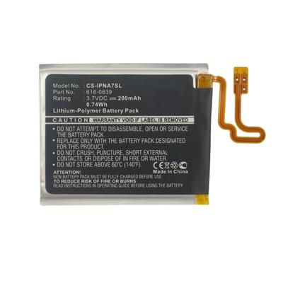Replacement 3.70V 200mAh Li-Polymer Battery for iPod Nano 7 7th Apple 616-0639 616-0640