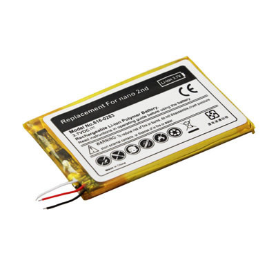 3.7V 450mAh Replacement battery for Apple iPod Nano 2nd Generation 2GB 4GB 8GB 616-0283