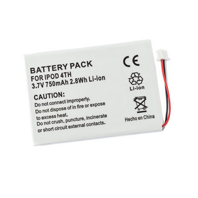 3.7V 750mAh Replacement Battery for Apple iPod Color M9268KH/A M9268TA/A M9282* M9282*/A