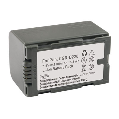 2100mAh Replacement Battery for Panasonic CGR-D210 CGR-D220 VBS0419 VBS0418