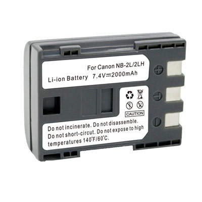 7.40V 2000mAh Replacement battery for Canon NB-2L NB-2LH BP-2L5 BP-2LH