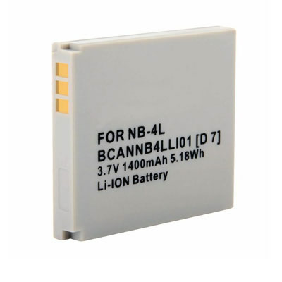 3.70V 1400mAh Replacement battery for Canon NB-4L NB-4LH PowerShot SD40 SD400 SD430 SD450