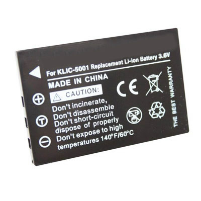 3.6V 1600mAh Replacement Camera battery for Kodak KLIC-5001 KLIC5001 EasyShare DX6490 DX7440 zoom