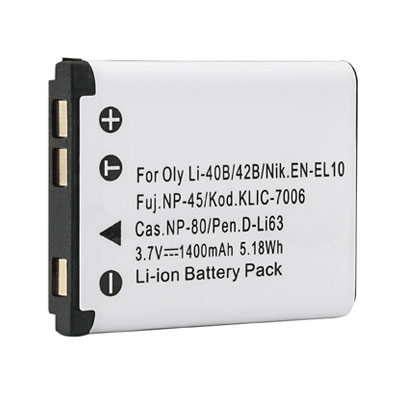 3.70V 1400mAh Replacement 02491-0053-00 Battery for Sanyo Xacti VPC-T1060 VPC-T700 VPC-T850