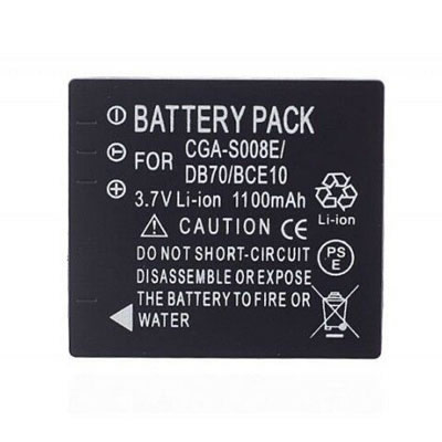 Replacement Camera battery for Panasonic CGA-S008E/1B DMW-BCE10 DMW-BCE10E 1100mAh