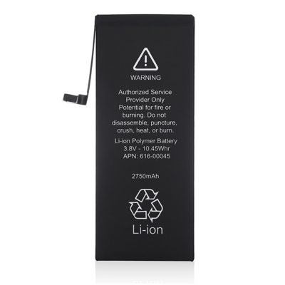 2750mAh 3.82V Replacement Li-ion Battery for Apple iPhone 6s Plus 616-00042 616-00045