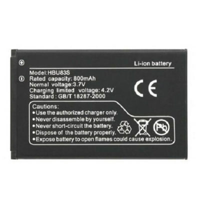 800mAh HBU83S Cell Phone Battery Replacement For Huawei M318 Metropcs U120 U121 Vodafone V715 V716