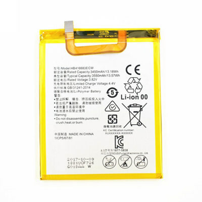 3450mAh HB416683ECW Cell Phone Battery Replacement For Huawei Google Nexus 6P H1511 H1512